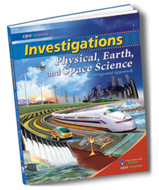 Cover of Physical, Earth, and Space Science textbook