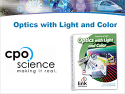 Cover to CPO's Link Learning Module: A STEM approach to Optics Light and Color (PDF)