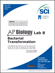 Cover to AP Biology Baterial Transformation investigation teacher's guide