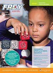 Cover to the 2018 Frey Scientific Elementary Catalog