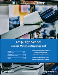 Cover to 2019 Frey High School Lab Supply List