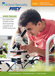 Cover to Frey Scientific 2018 High School and Jr. College Catalog