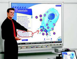 Teacher and smart board